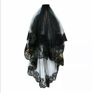 New Graceful Beautiful black elbow length veil